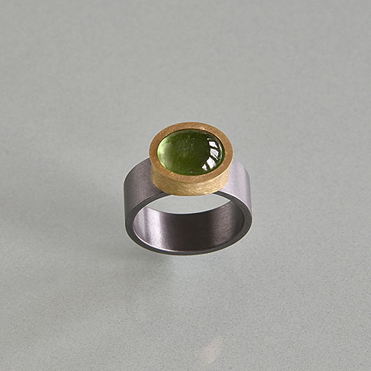 Ringe, Tantal, Gold 900/000, Turmalin